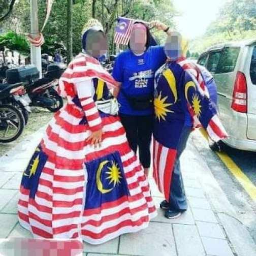 gayakan bendera Malaysia sebagai tema baju