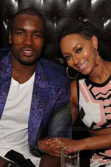 Samuel Soba with his wife Keri Hilson