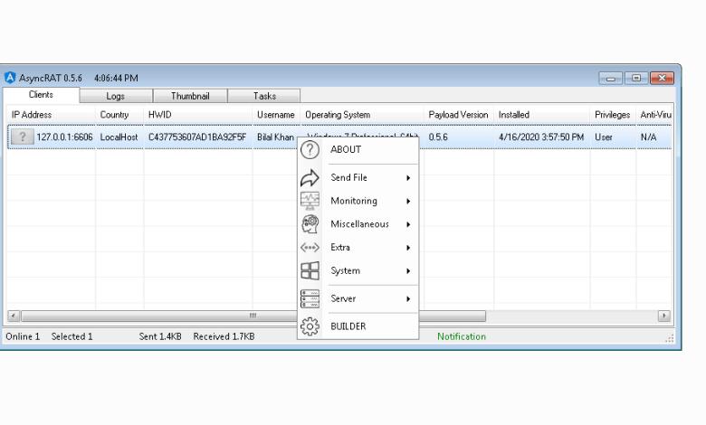 AsyncRAT v0.5.6  + Source