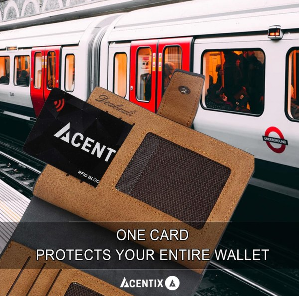 Acentix Rfid Nfc Blocking Credit Debit Card Protector