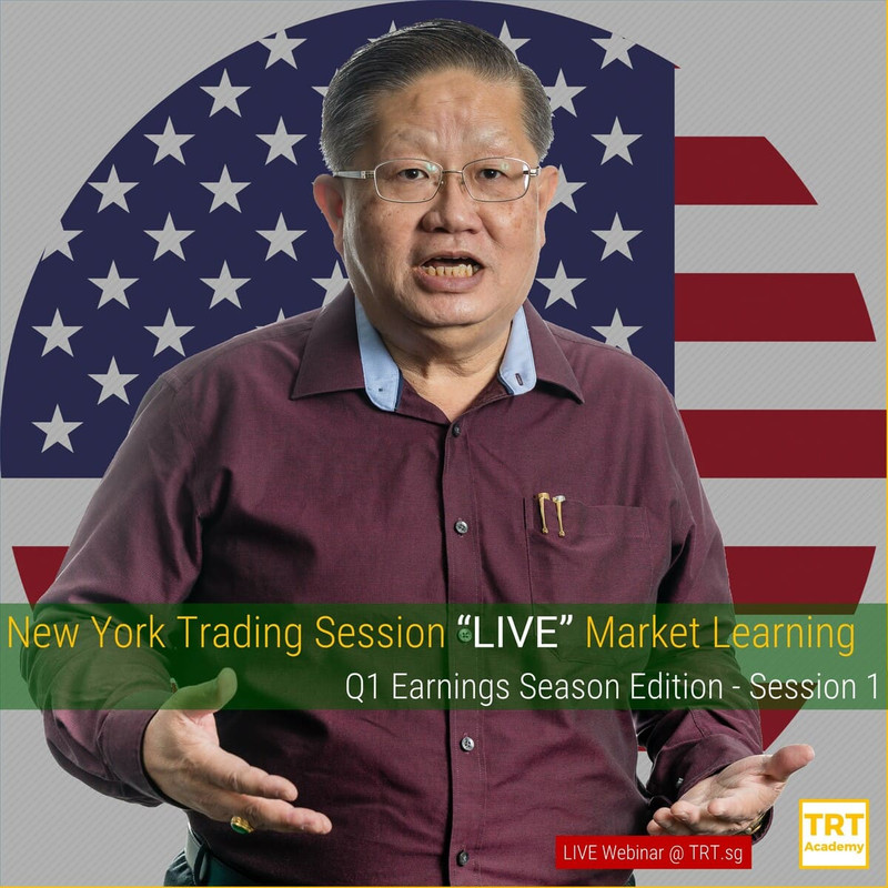 "24 April – [LIVE Webinar @ TRT.sg]  New York Trading Session ""LIVE"" Market Learning"