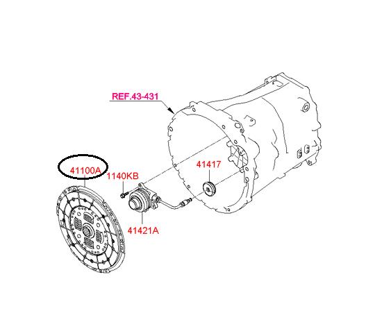 2013-2014 Hyundai Genesis Coupe Turbo Manual OEM Clutch