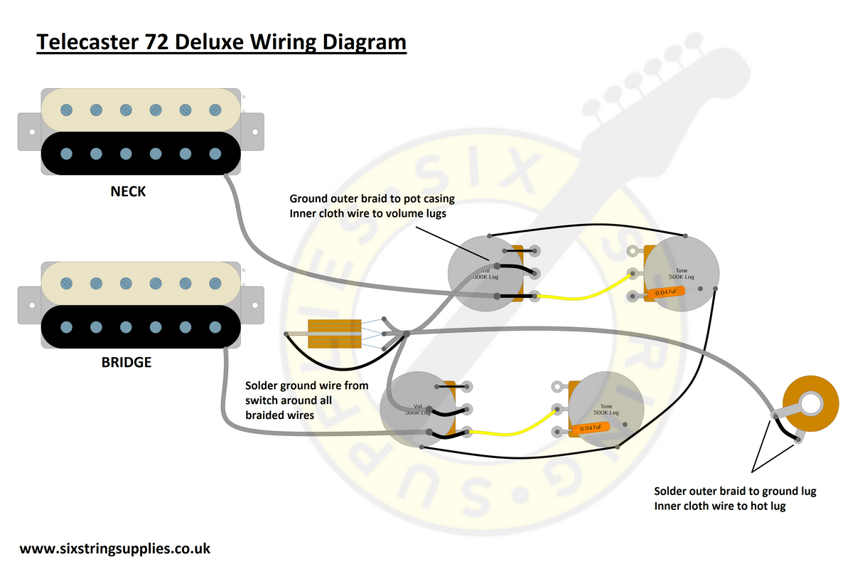 hight resolution of six string supplies u2014 72 telecaster deluxe wiring fender lead ii wiring diagram telecaster deluxe