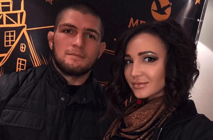 Khabib Nurmagomedov with his wife