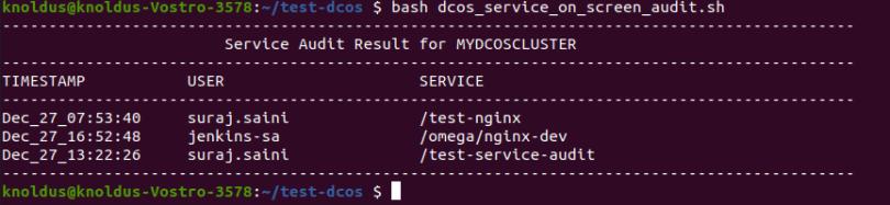 DC/OS Service Audit Pass