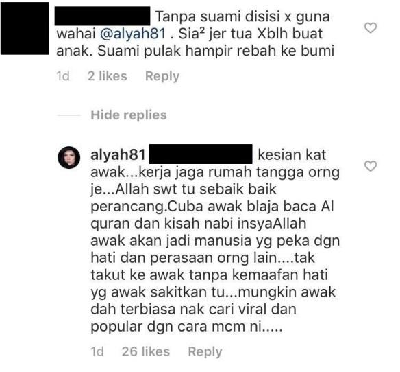 alyah dihina netizen