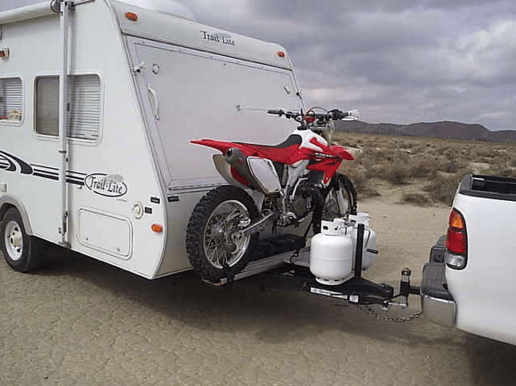 hitch or tongue mod to carry dirt bike
