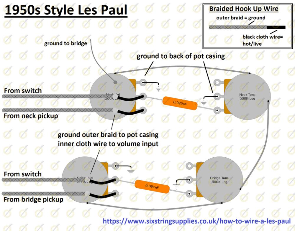 medium resolution of wiring diagram for gibson les paul