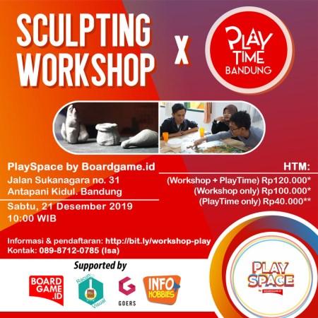 Sculpting workshop poster