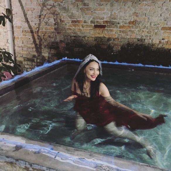 netizen kurang senang lihat penampilan nadia brian di majlis bridal shower