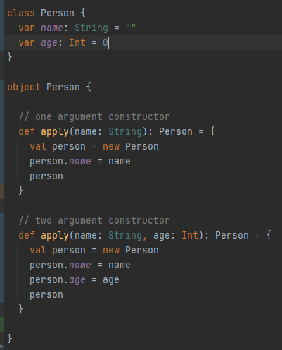 companion object with multiple apply