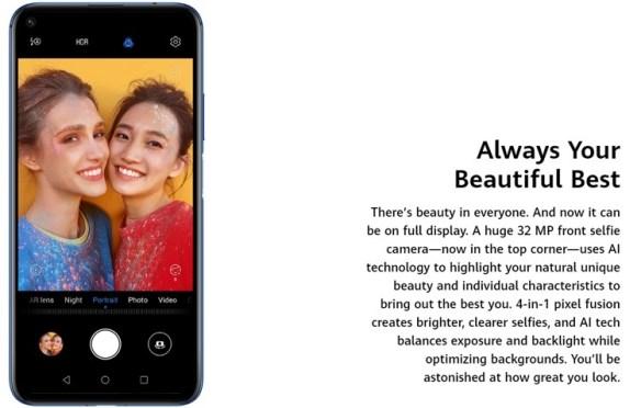 Kamera selfie lensa 32Mp