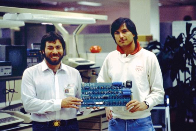Steve Wozniak and Steve Jobs with apple I