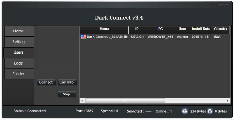 dark connect