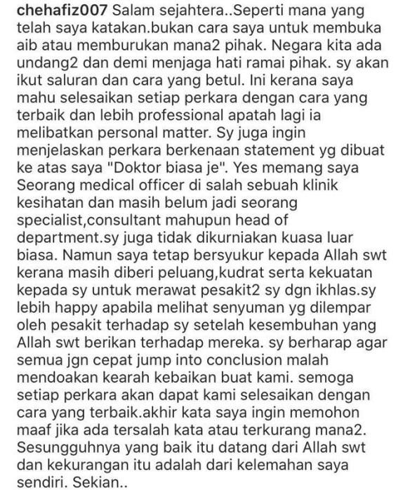 dr che muhammad hafiz