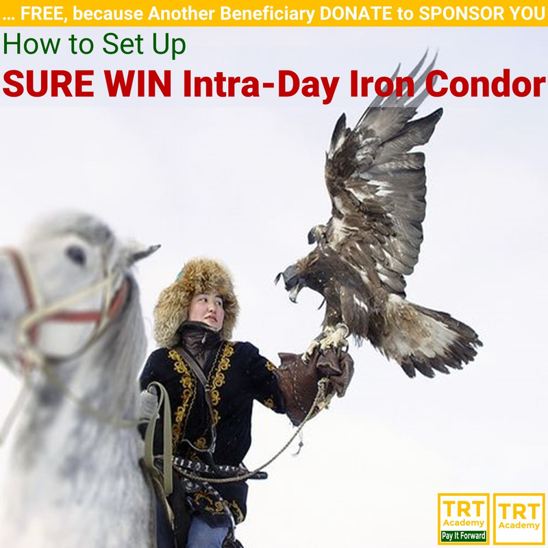 Yes! Send Me the Video – How to Set Up SURE WIN Intra-Day Iron Condor