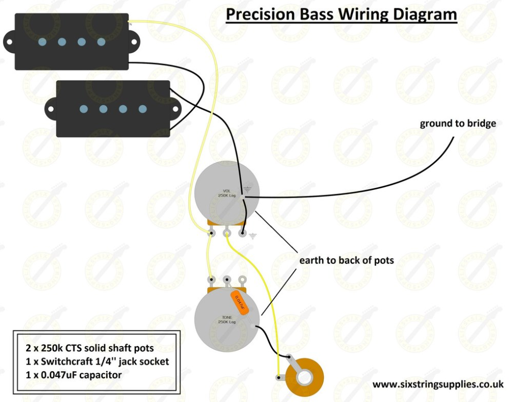 medium resolution of precision bass wiring wiring diagram for fender precision bass
