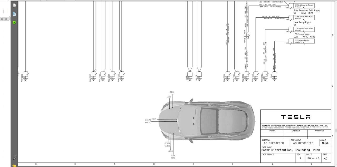 Tesla Model 3 Service Manual Wiring Diagram (Model3 2018
