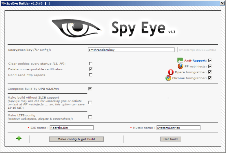 SpyEye Botnet+ All modules + Collector + Panel + Bc