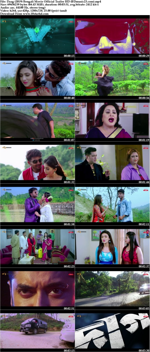 Daag (2019) Bengali Movie Official Trailer Ft  Bappy & Mim