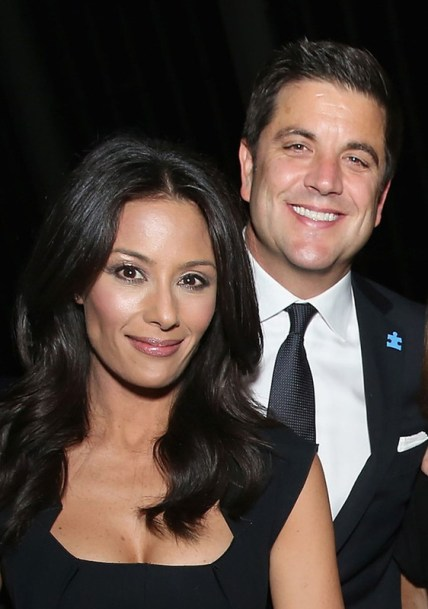Josh Elliott with his wife Liz Cho