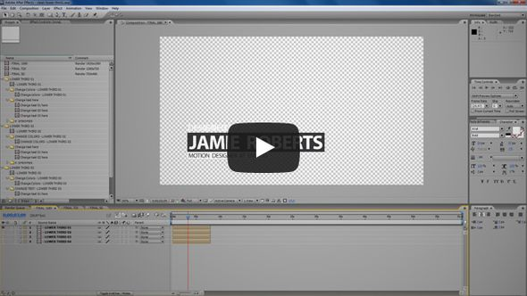 clean lower thirds video tutorial
