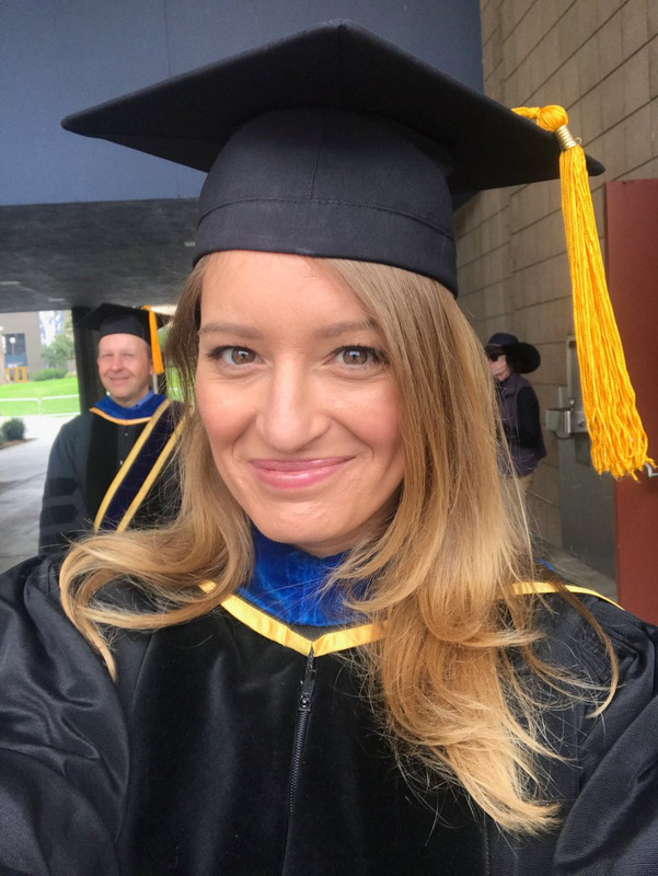 Katy Tur in her Academic Gown