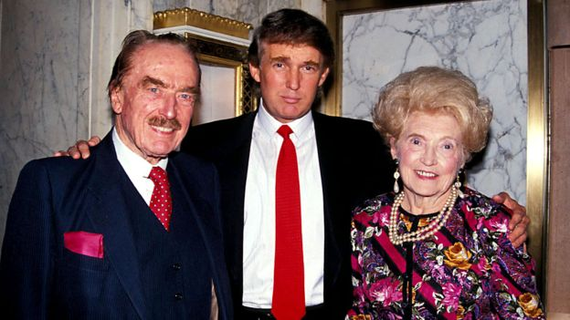 Donald Trump with his parents in his early days