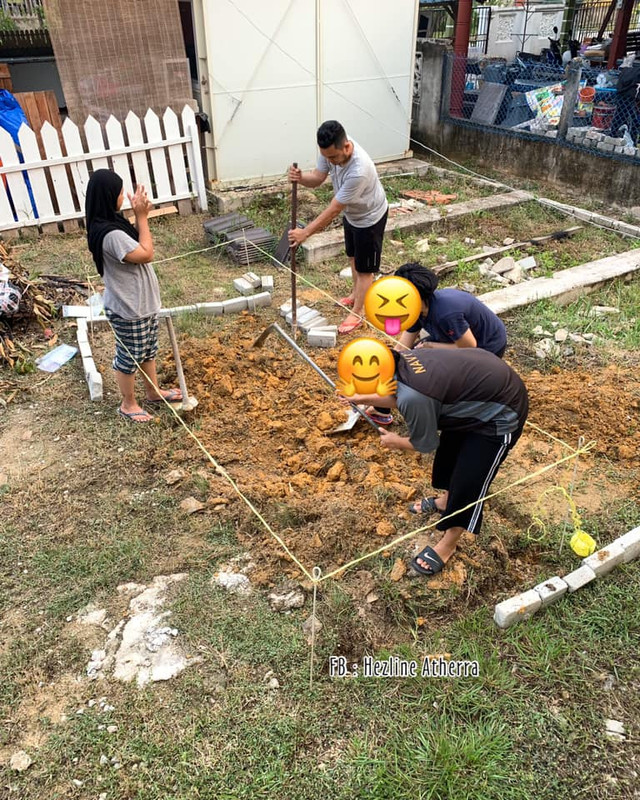 korek tanah buat kolam