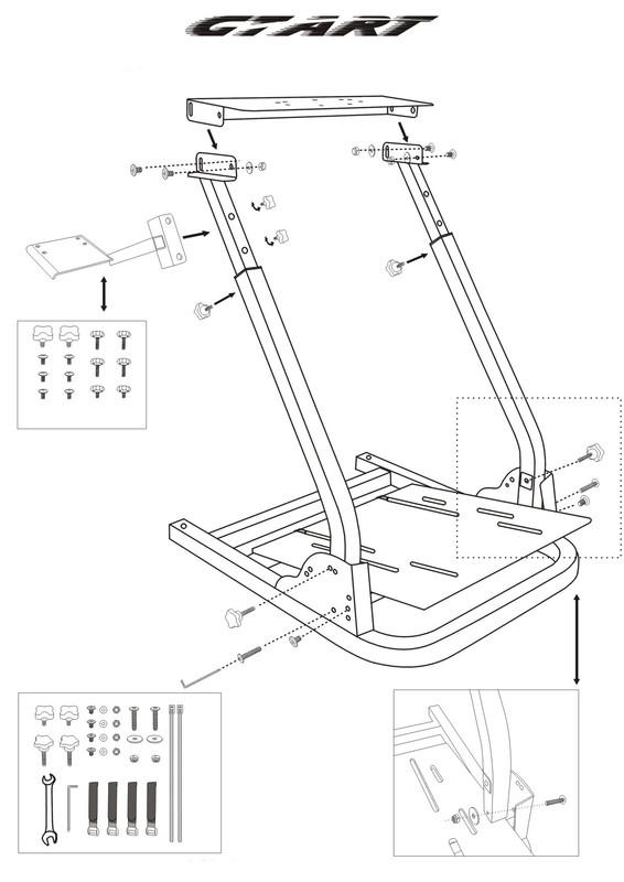 Genuine GT ART Racing Simulator Steering Wheel Stand for