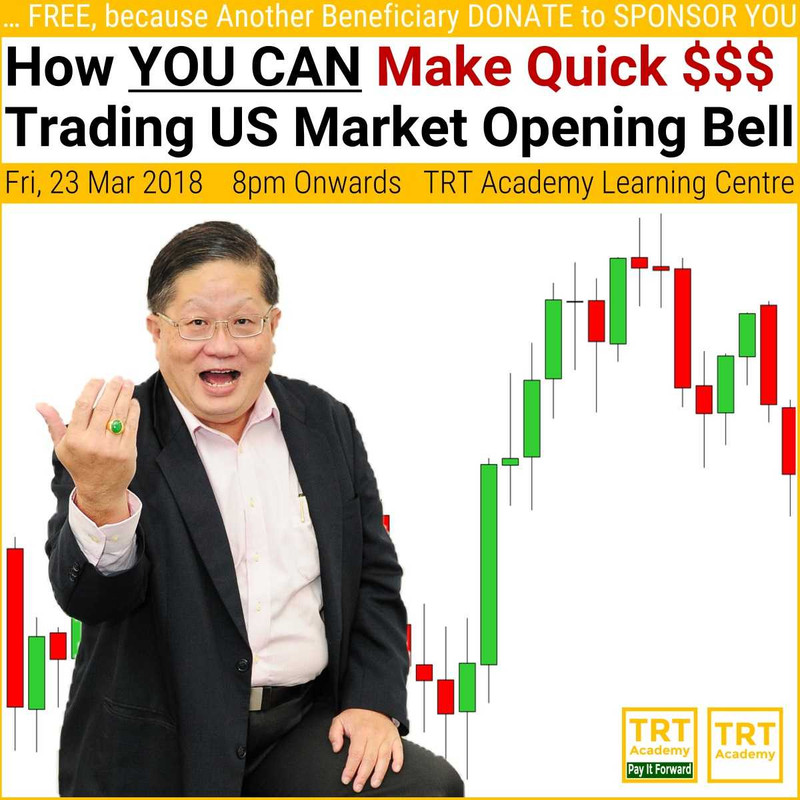 23 March 2018 – How YOU CAN Make $$$ Trading US Market Opening Bell