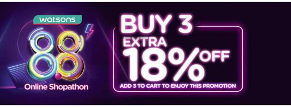 extra 18 % off watsons