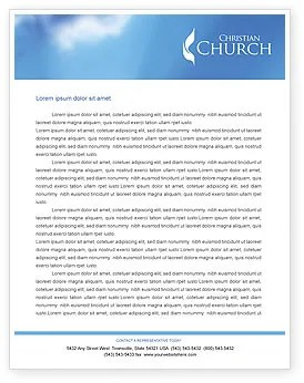 Belfry Letterhead Template Layout For Microsoft Word