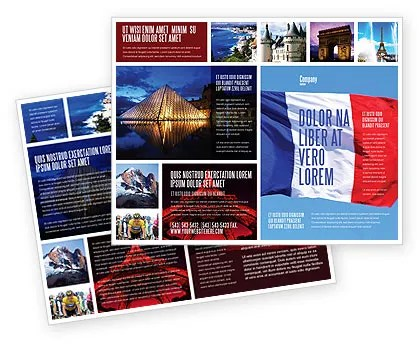 French Flag Brochure Template Design And Layout Download Now 01805