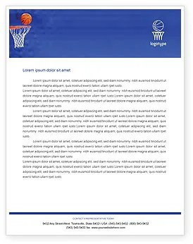 Basketball Match Letterhead Template Layout For Microsoft