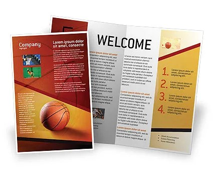 Before Basketball Game Brochure Template Design And Layout Download