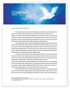 Peace Dove Letterhead Template Layout For Microsoft Word