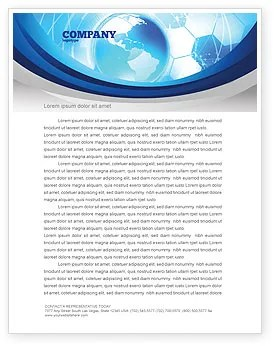 Communication Media Letterhead Template Layout For