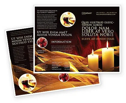 Candle Light Brochure Template Design And Layout Download Now