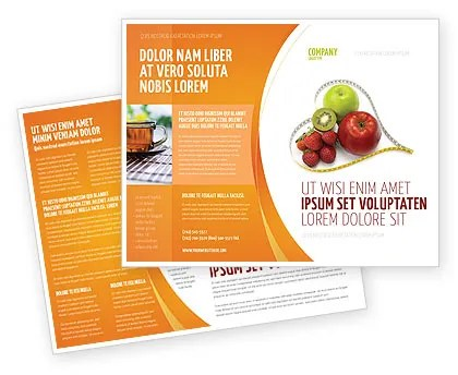 Balanced Nutrition Brochure Template Design And Layout Download Now