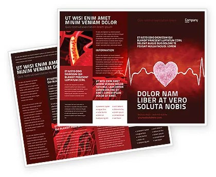 Heartbeat Brochure Template Design And Layout Download