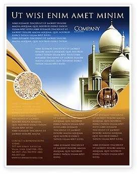 Islamic Architecture Flyer Template Background In Microsoft Word Publisher And Illustrator