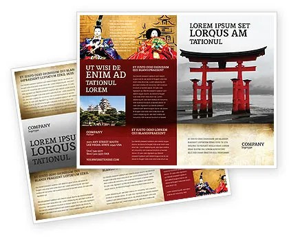 Ancient Japan Brochure Template Design And Layout Download Now