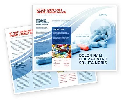 Drug Therapy Brochure Template Design And Layout Download