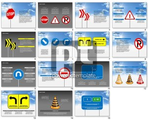 Traffic Signs Diagrams for PowerPoint Presentations