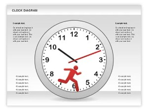 Clock Face Diagram for PowerPoint Presentations, Download