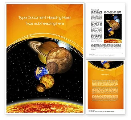 The Solar System Word Template 10761 PoweredTemplate Com