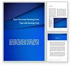 Abstract Blue Tilted Layers PowerPoint Template Backgrounds 12303