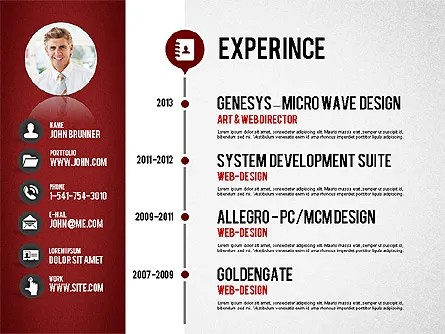 Professional Resume Template For PowerPoint Presentations