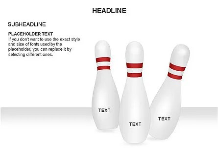 Bowling Alley Pins Diagram for PowerPoint Presentations